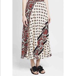 RED Valentino Skirts - RED VALENTINO Paisley Print Silk Skirt